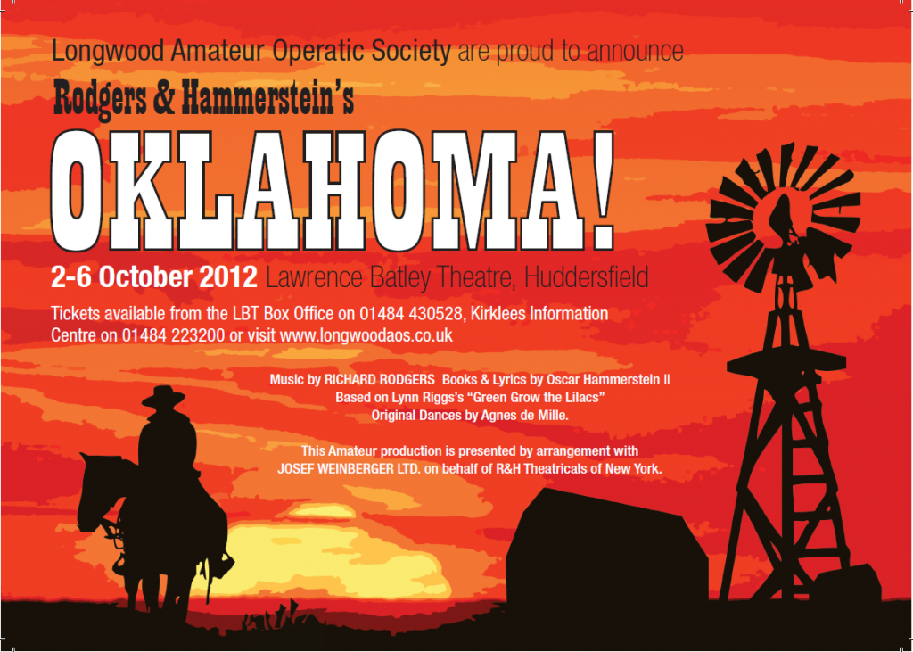 Advert for the Oklahoma! show